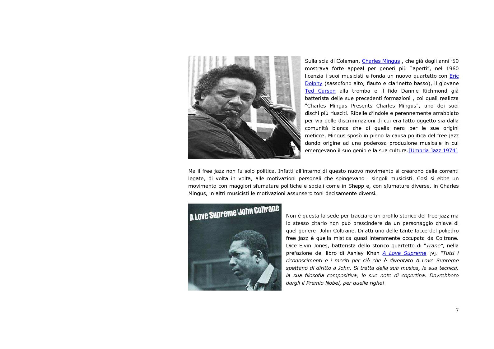 Estratto dalla tesi: Neurologia e sociologia del jazz moderno
