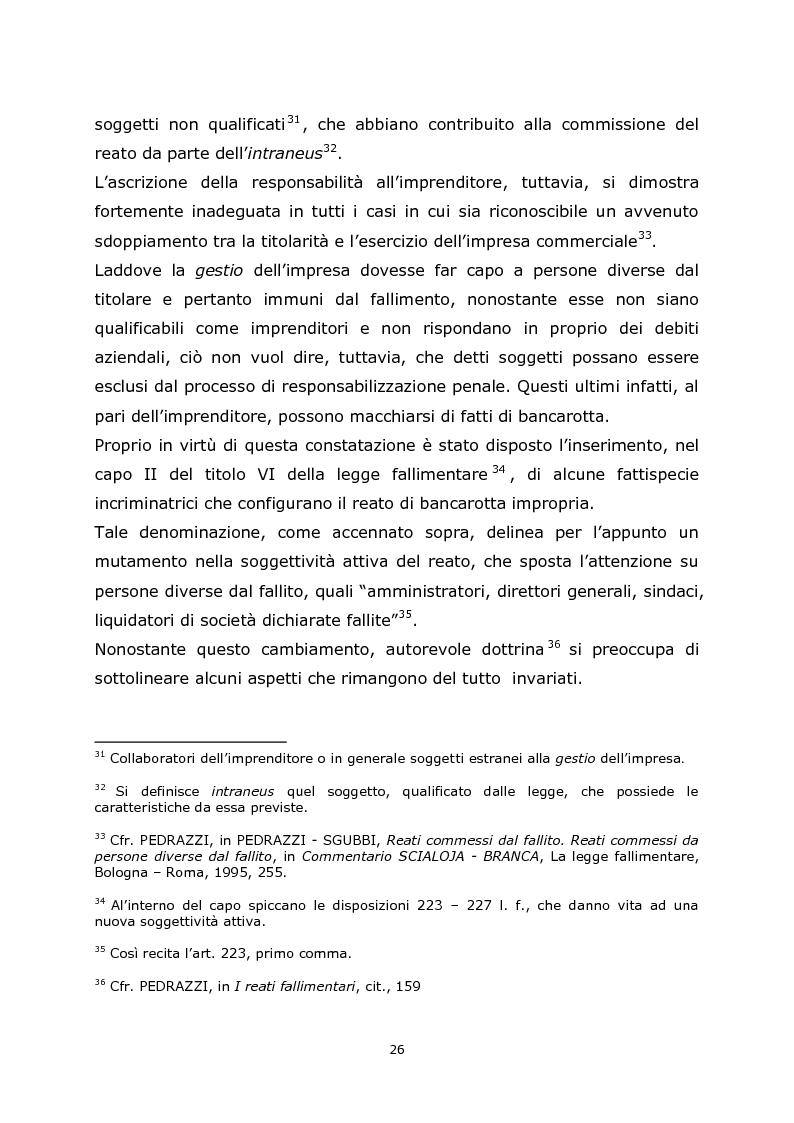 Estratto dalla tesi: La bancarotta fraudolenta impropria: le operazioni dolose ex art. 223, comma secondo, n.2, legge fallimentare