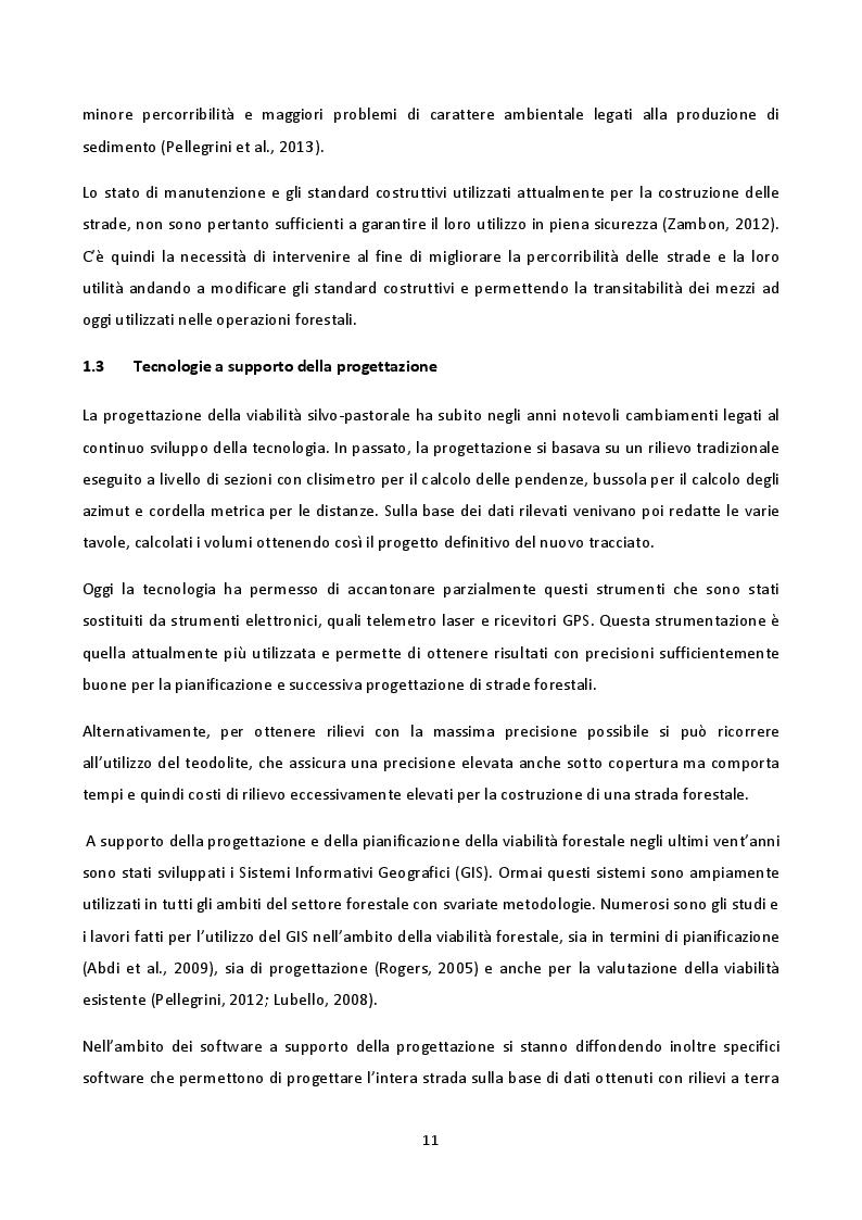 Estratto dalla tesi: Impiego di dati LiDAR a supporto di interventi di miglioramento della viabilità forestale