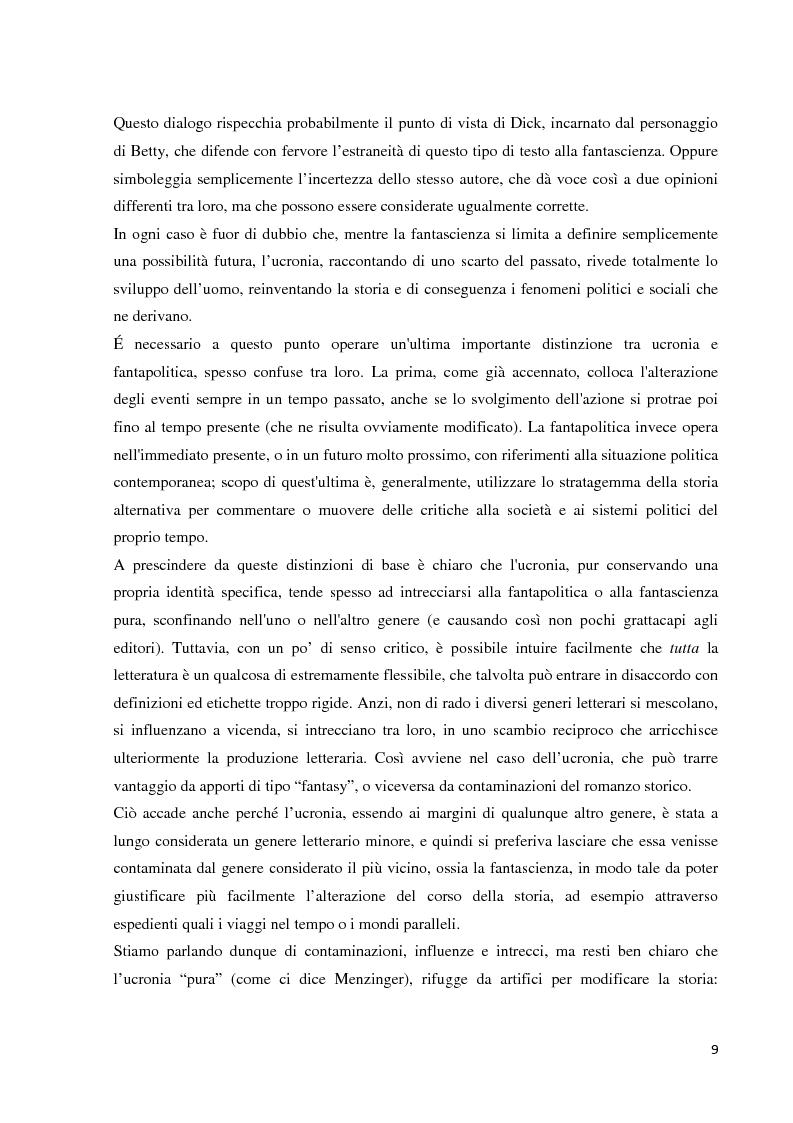 Estratto dalla tesi: Heterocosmica ucronici - Realtà alternative in Dick, Morselli e Schmitt