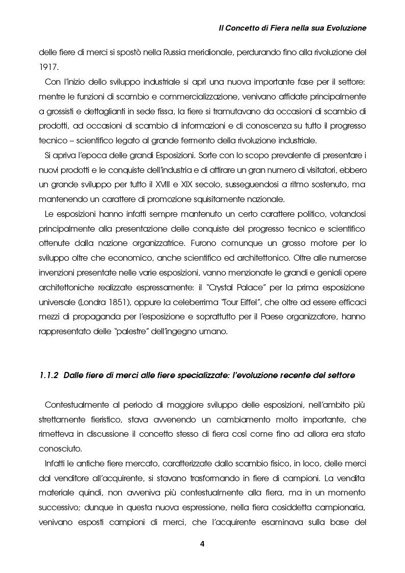 """Estratto dalla tesi: L'organizzazione di un evento fieristico nell'ambito dell'economia delle esperienze: il caso """"My Special Car Show"""""""