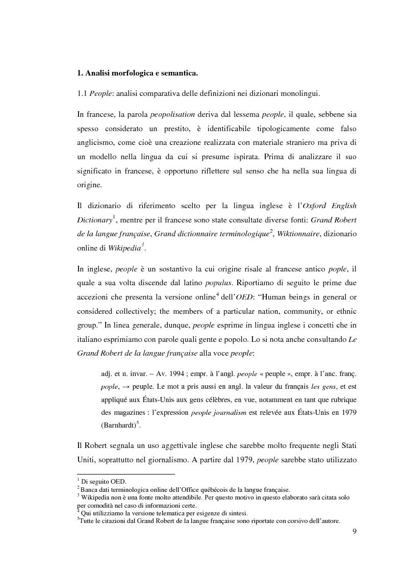 Estratto dalla tesi: La peopolisation de la politique: quando il gossip diventa propaganda.