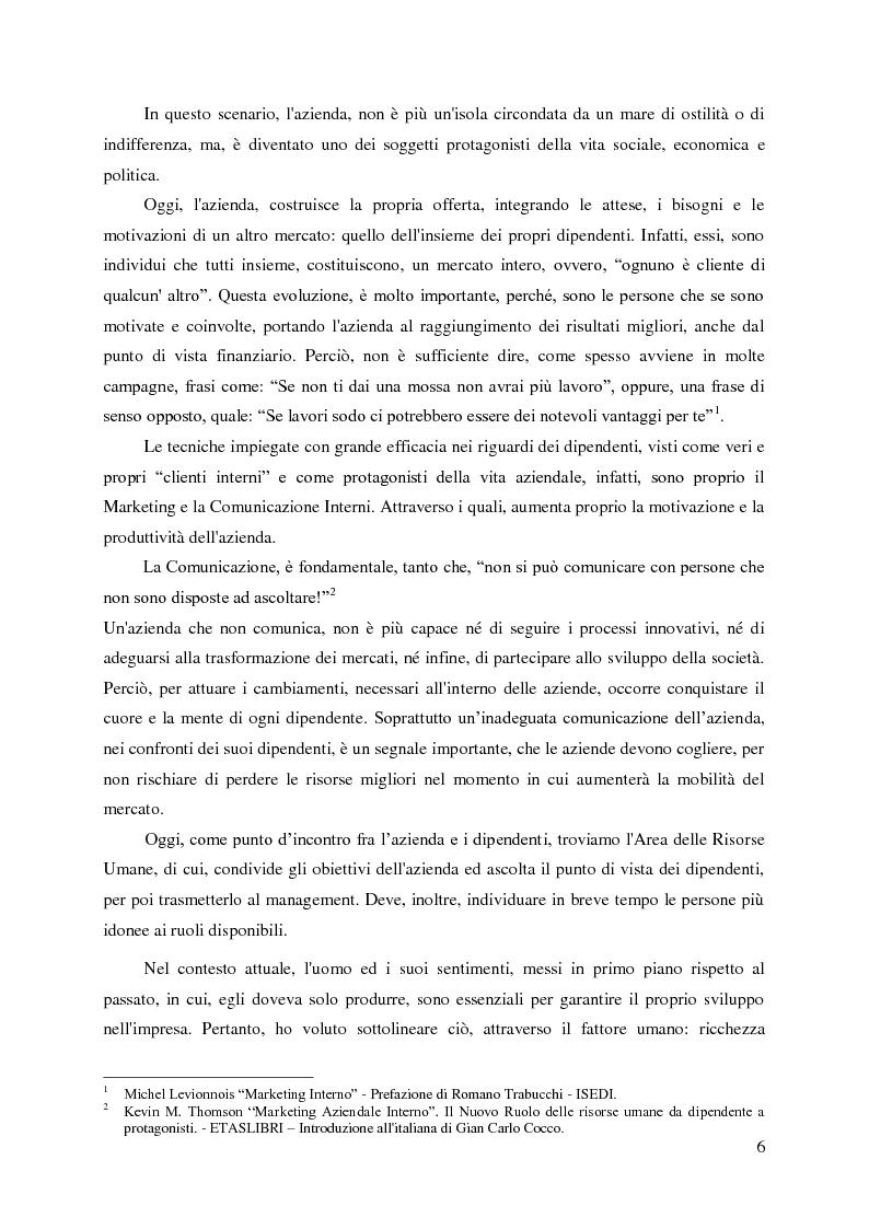 Anteprima della tesi: Le nuove organizzazioni aziendali e la motivazione delle persone attraverso il Marketing e la Comunicazione Interni, Pagina 3