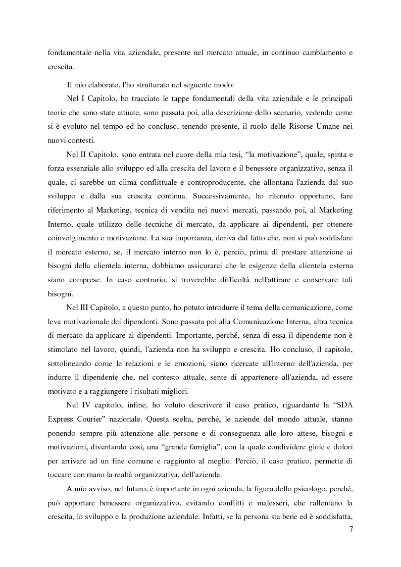 Anteprima della tesi: Le nuove organizzazioni aziendali e la motivazione delle persone attraverso il Marketing e la Comunicazione Interni, Pagina 4