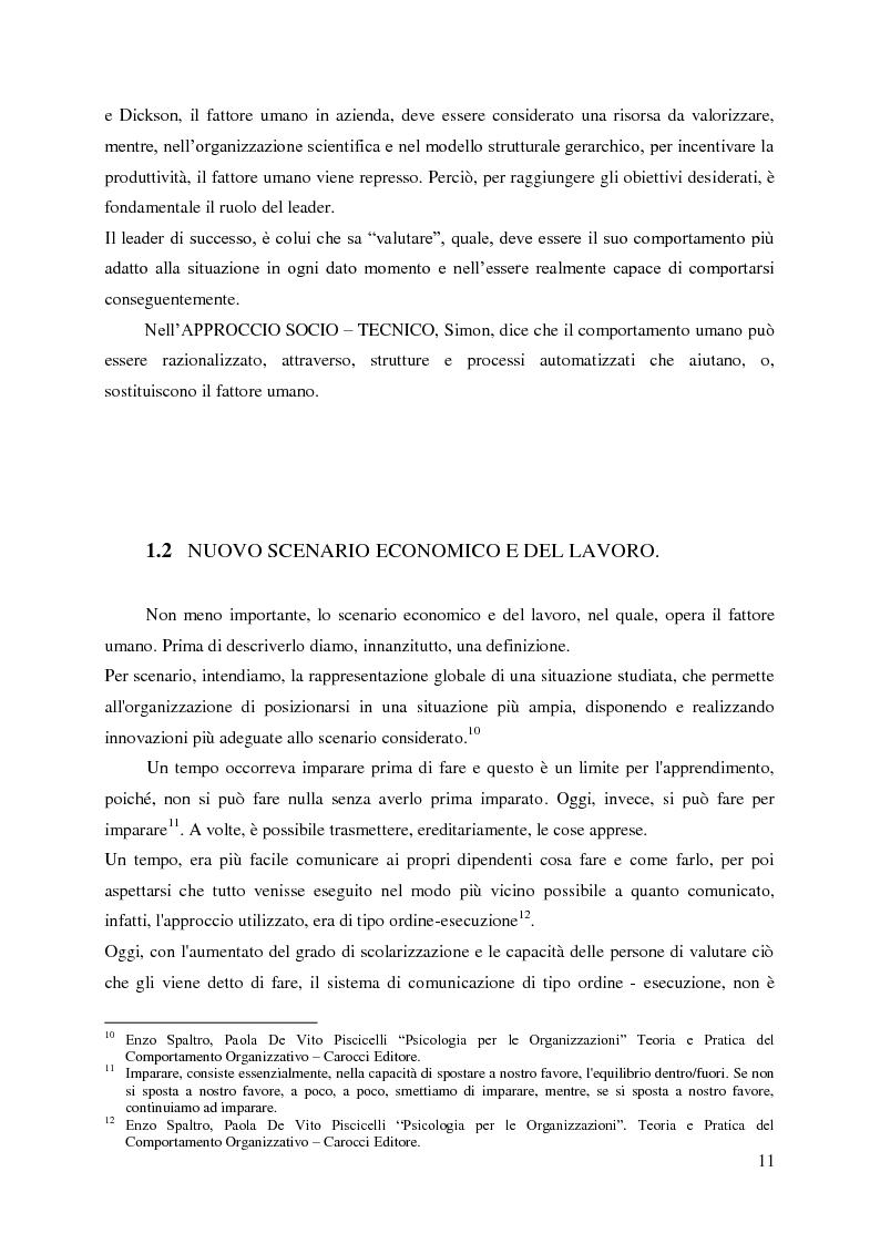 Anteprima della tesi: Le nuove organizzazioni aziendali e la motivazione delle persone attraverso il Marketing e la Comunicazione Interni, Pagina 8