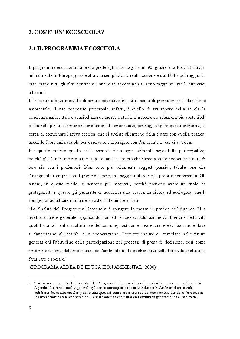 Estratto dalla tesi: Alla scoperta delle ecoscuole in viaggio tra Italia e Spagna