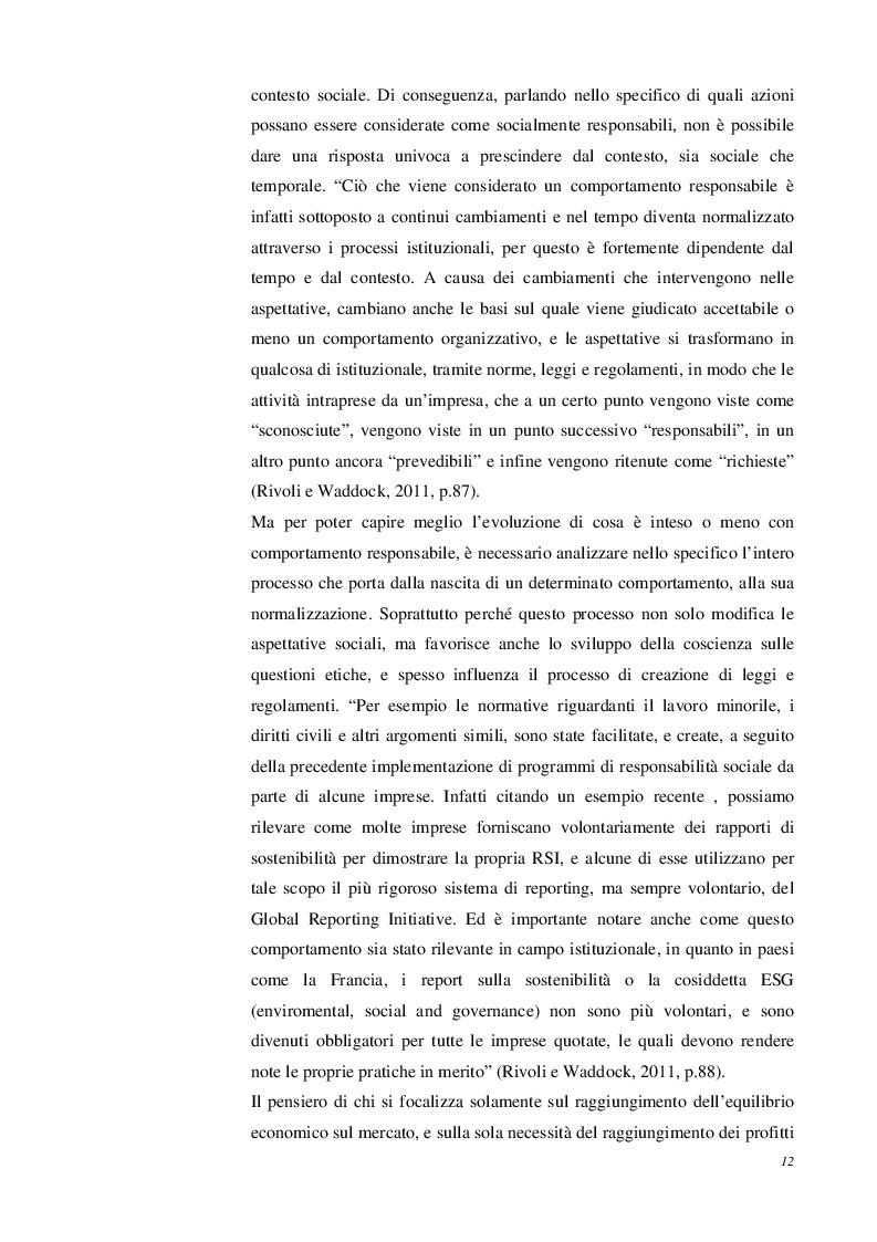 """Estratto dalla tesi: La Responsabilità Sociale d'Impresa come """"Innovazione sociale"""": Dalla Congruità all'Integrità. Il caso """"Primavera 83"""""""