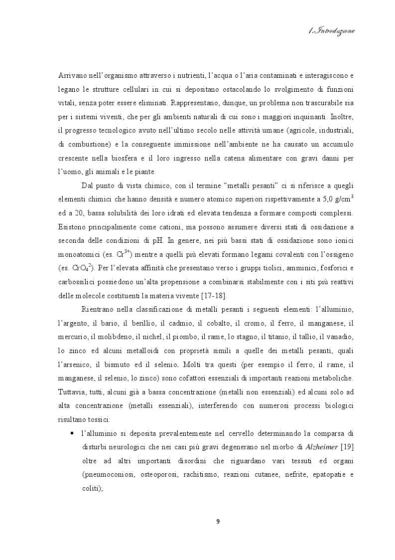 Estratto dalla tesi: Bioadsorbimento di cadmio da soluzioni acquose mediante cellule di Saccharomyces cerevisiae immobilizzate su agarosio: studi cinetici, termodinamici e di desorbimento