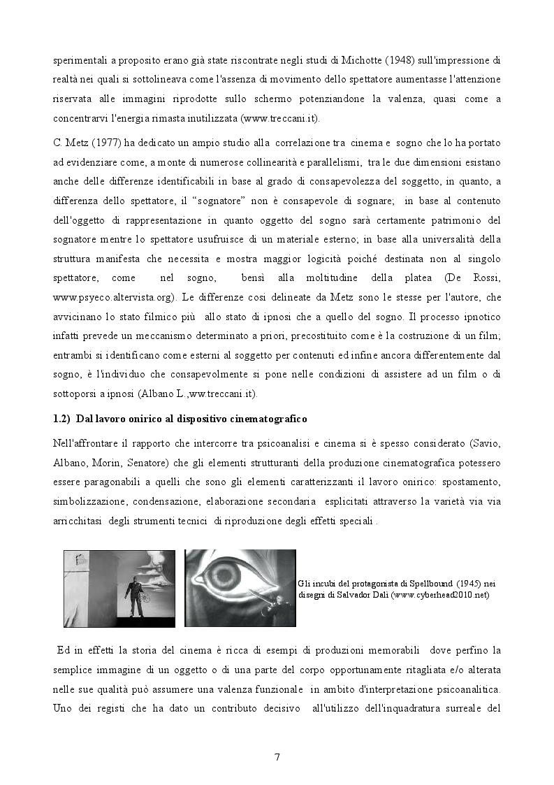 Estratto dalla tesi: ''Sogno o son desto ?'' Lavoro onirico e produzione cinematografica