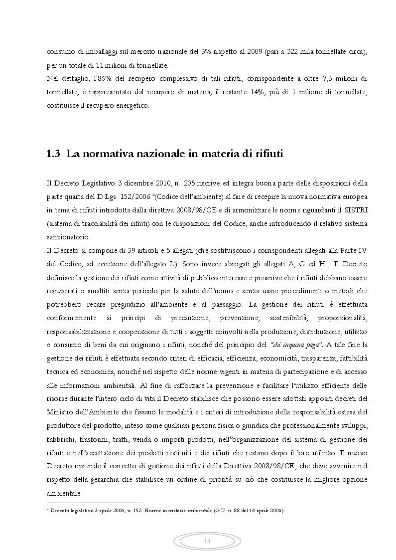 Estratto dalla tesi: Metodologia LCA applicata alla gestione del rifiuto secco residuo conferito all'impianto d'incenerimento di Tossilo a Macomer