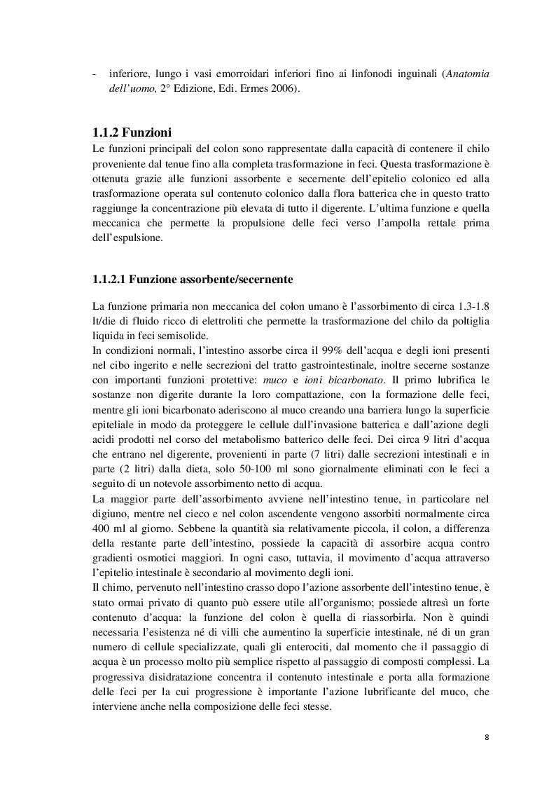 Estratto dalla tesi: Profilo alimentare e metabolico di una coorte di pazienti con pregresso carcinoma del colon-retto in follow up
