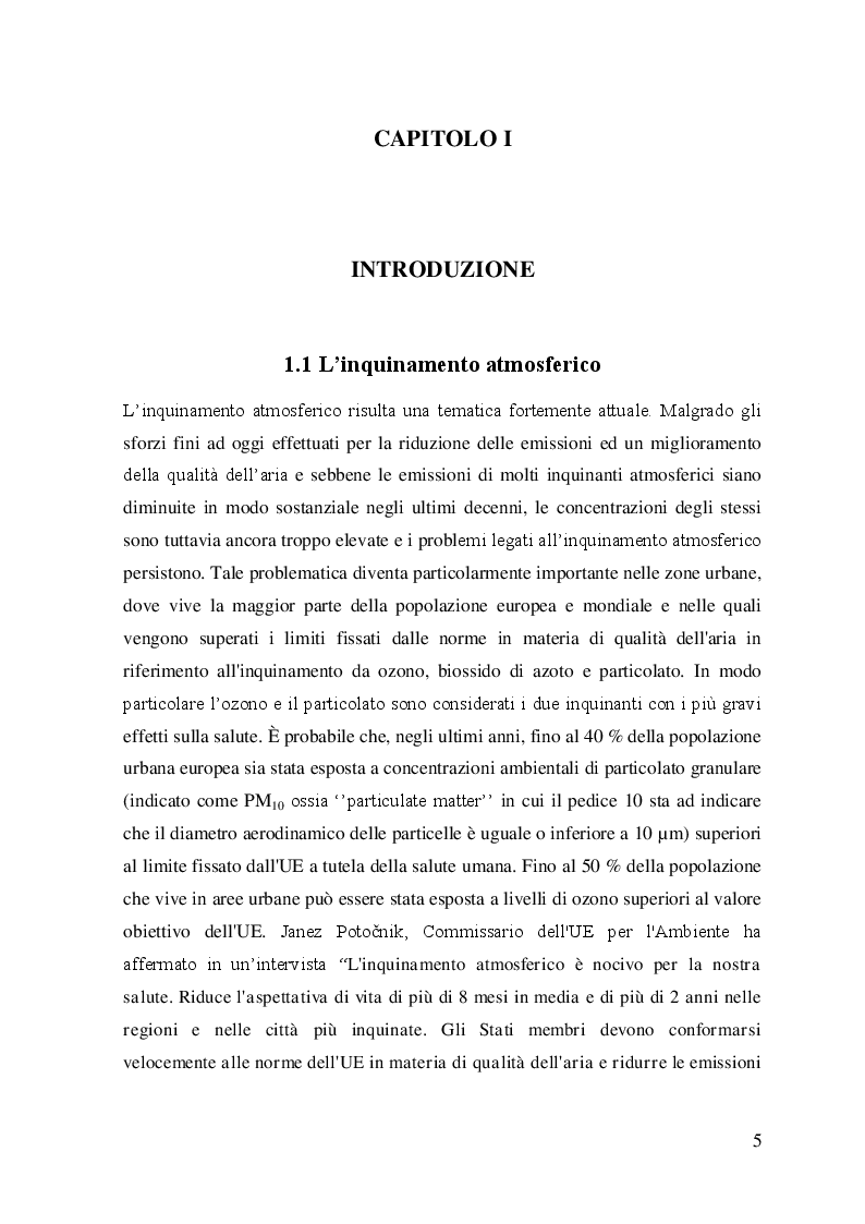 Valutazione sperimentale delle emissioni e dei consumi di uno scooter Euro 3 in utilizzo reale - Tesi di Laurea
