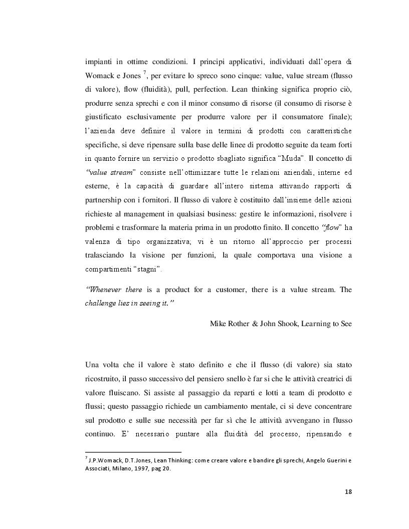 Estratto dalla tesi: La qualità dei processi in azienda: caratteristiche e finalità del World Class Manufacturing