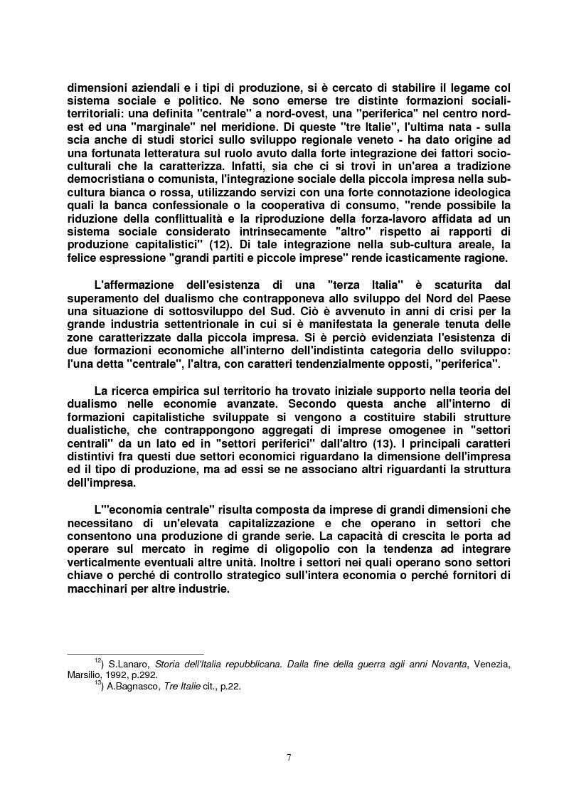 Anteprima della tesi: Modello veneto e Terza Italia: un caso di insediamento calzaturiero nel territorio veronese (1954-1985), Pagina 14