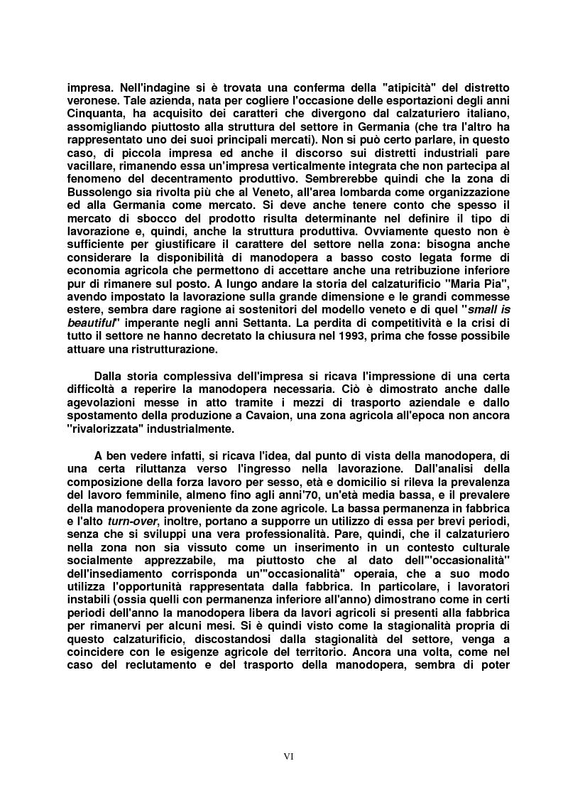 Anteprima della tesi: Modello veneto e Terza Italia: un caso di insediamento calzaturiero nel territorio veronese (1954-1985), Pagina 6