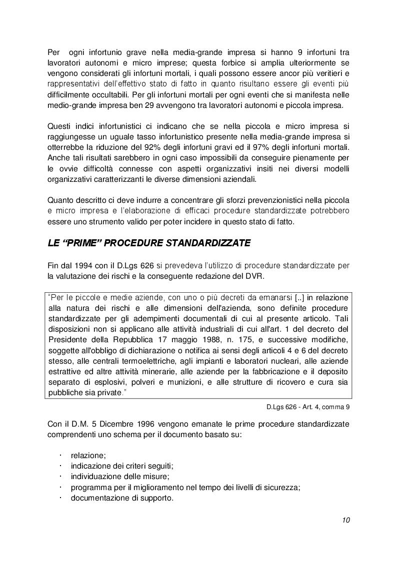 """Estratto dalla tesi: """"Decreto Interministeriale 30 Novembre 2012"""" Procedure standardizzate per la valutazione dei rischi: esame normativo ed indicazioni operative"""