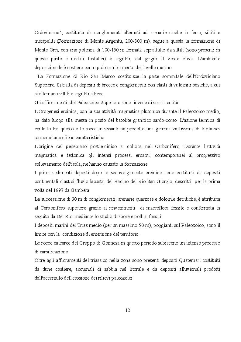 Estratto dalla tesi: Trasporto di metalli pesanti in soluzione e in sospensione nel Rio San Giorgio (Iglesias)