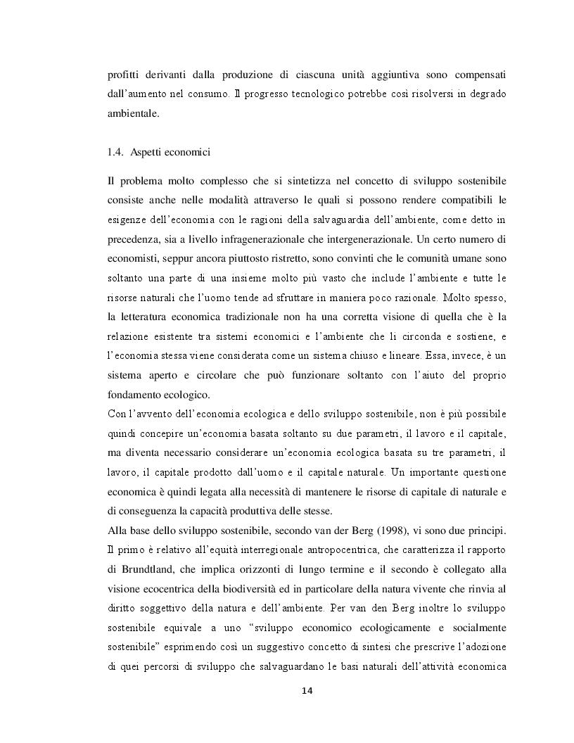 Estratto dalla tesi: Lo sviluppo sostenibile. Evoluzione storica, misurazione e ruolo dell'educazione ambientale