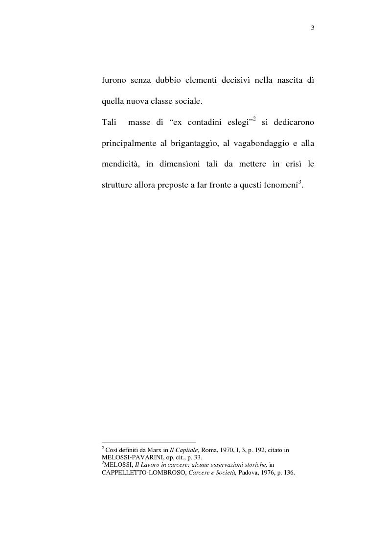 Anteprima della tesi: Il lavoro carcerario. Origine ed evoluzione normativa. L'esperienza del carcere di Pisa, Pagina 2