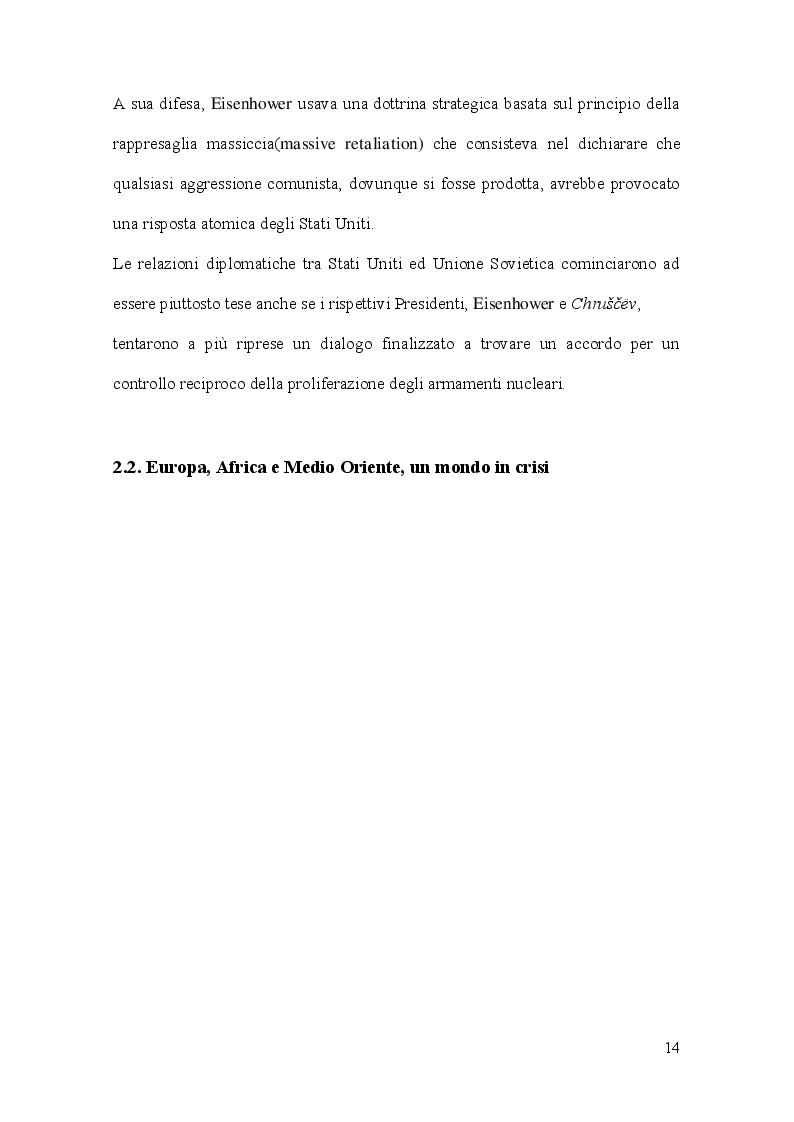 Estratto dalla tesi: La Crisi di Cuba vista dai principali quotidiani