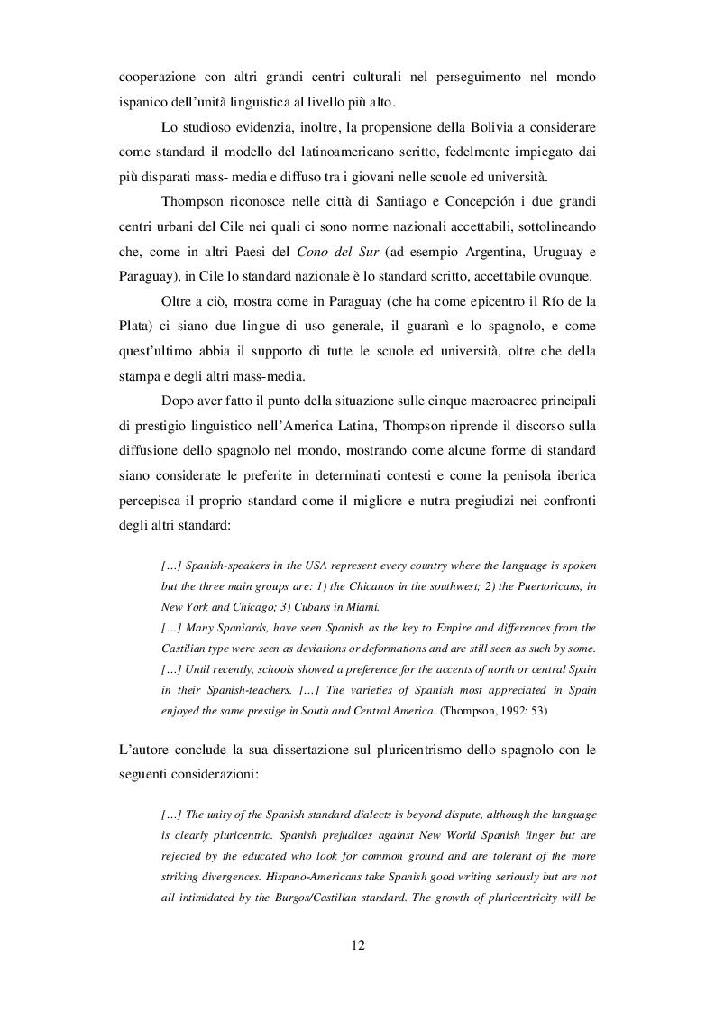 Estratto dalla tesi: Cambi semantici del lessico della frutta nei vari paesi ispanofoni