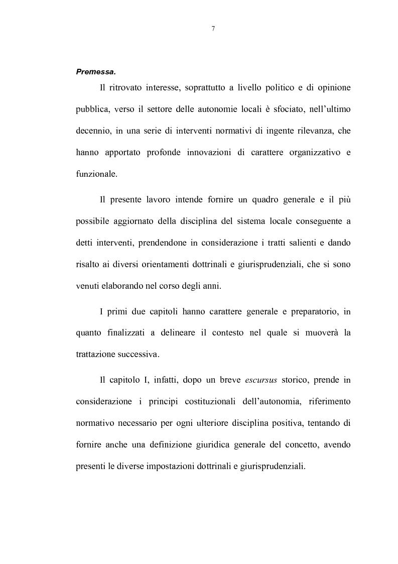 Anteprima della tesi: La riforma delle autonomie locali, Pagina 1