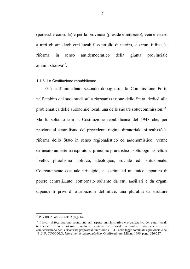 Anteprima della tesi: La riforma delle autonomie locali, Pagina 11