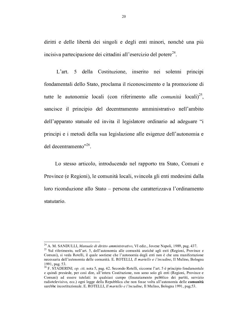 Anteprima della tesi: La riforma delle autonomie locali, Pagina 14