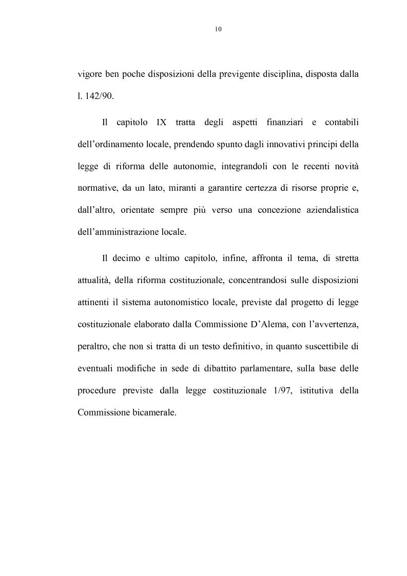 Anteprima della tesi: La riforma delle autonomie locali, Pagina 4