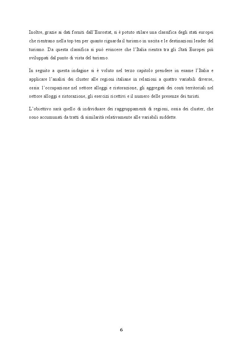 Anteprima della tesi: La cluster analysis: aspetti teorici ed applicazione nel settore turistico, Pagina 3