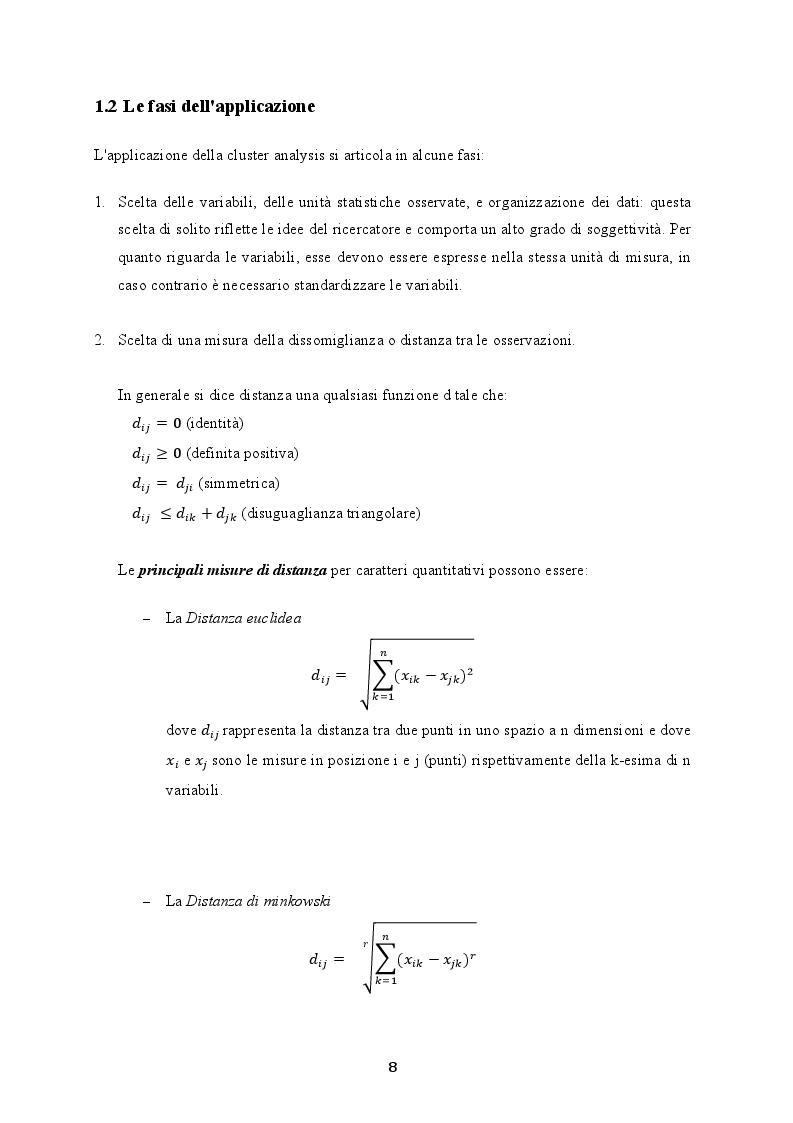 Anteprima della tesi: La cluster analysis: aspetti teorici ed applicazione nel settore turistico, Pagina 5