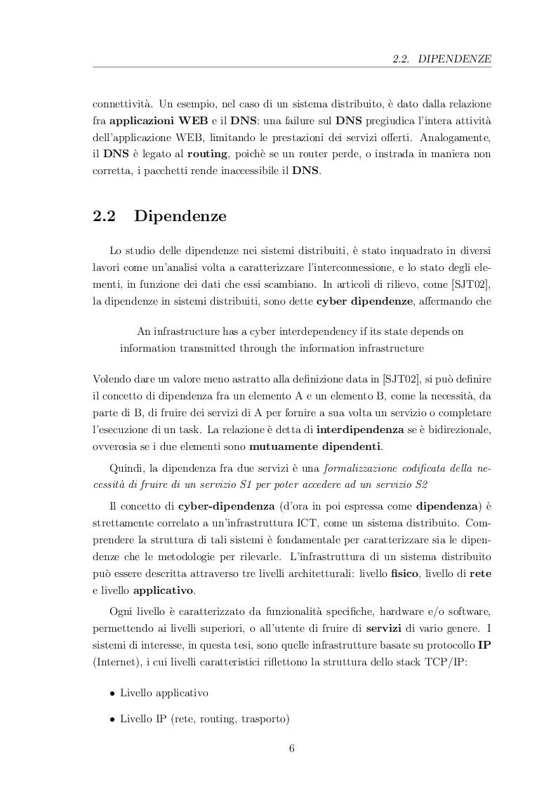Estratto dalla tesi: Metodi e meccanismi per l'individuazione e l'analisi delle dipendenze nei sistemi distribuiti