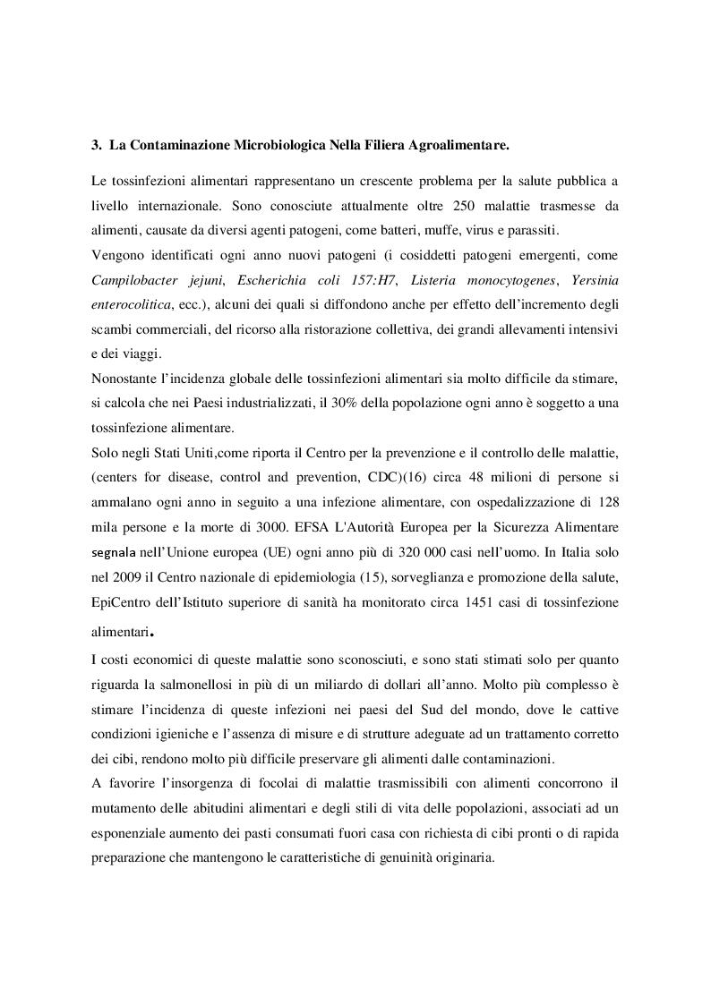 Estratto dalla tesi: Patogeni emergenti e ruolo nelle malattie alimentari. Definizione di un impianto sperimentale per la coltivazione di materiale vegetale in condizioni asettiche controllate.