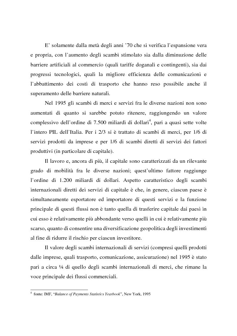 Anteprima della tesi: Effetti della globalizzazione dei mercati sul livello occupazionale dei paesi industrializzati: l'ipotesi interpretativa di Krugman, Pagina 10