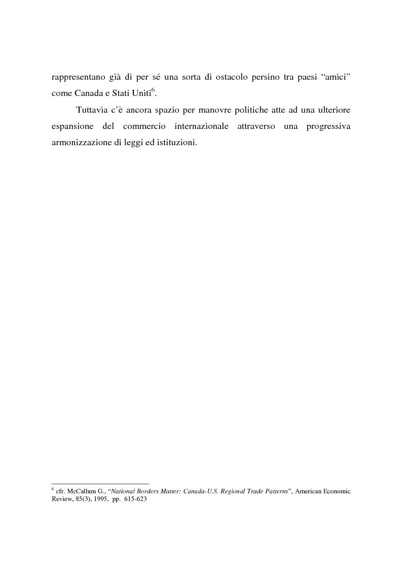 Anteprima della tesi: Effetti della globalizzazione dei mercati sul livello occupazionale dei paesi industrializzati: l'ipotesi interpretativa di Krugman, Pagina 12