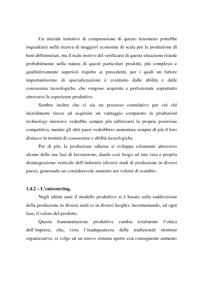 Anteprima della tesi: Effetti della globalizzazione dei mercati sul livello occupazionale dei paesi industrializzati: l'ipotesi interpretativa di Krugman, Pagina 14