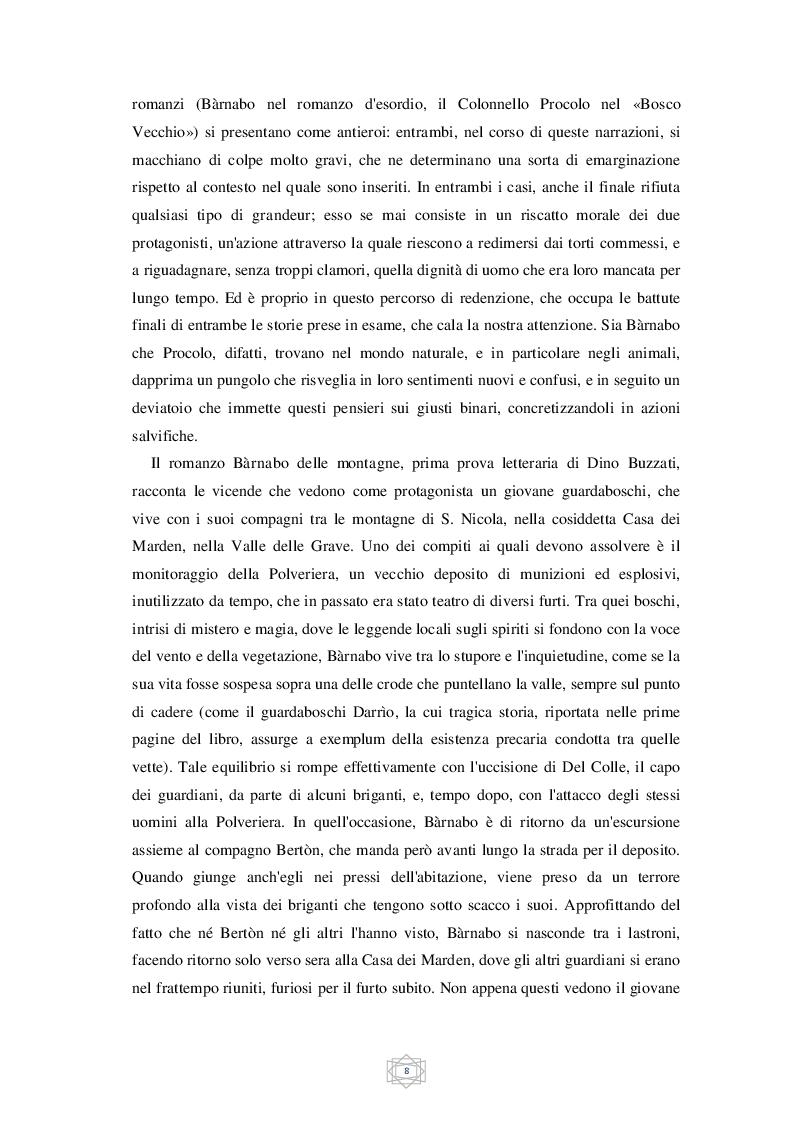 Estratto dalla tesi: Il bestiario di Dino Buzzati