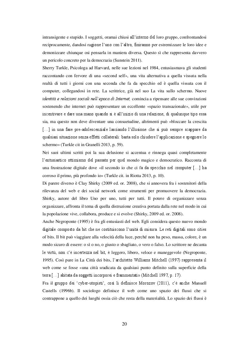 Estratto dalla tesi: Le zone d'ombra della rete