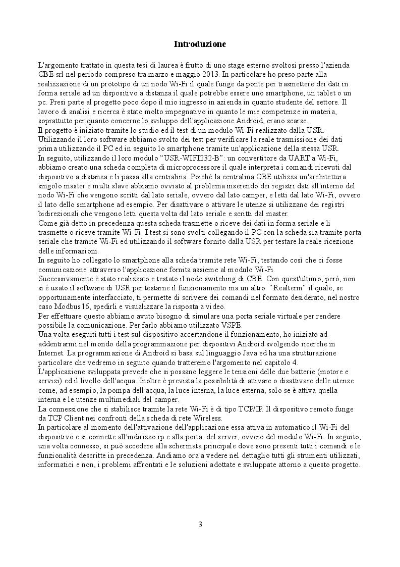 Comunicazione seriale ModBus16 gestita via Wi-fi per applicazione Android - Tesi di Laurea