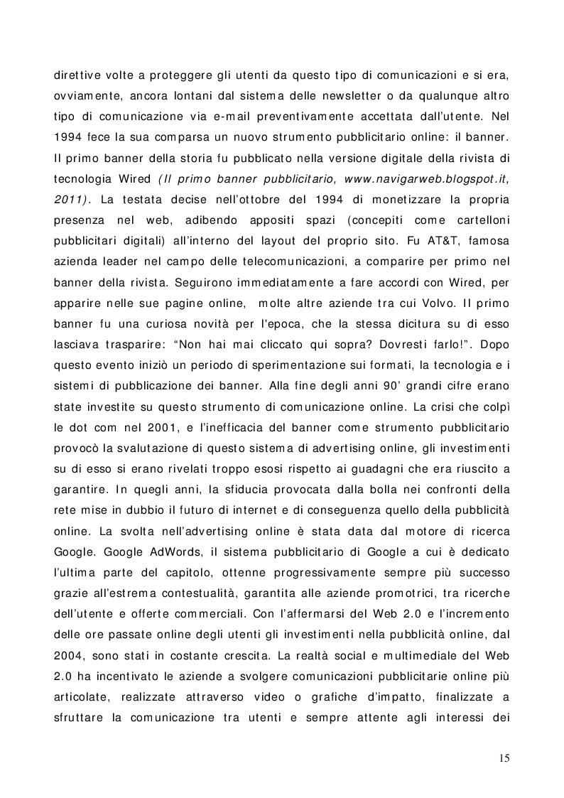 Estratto dalla tesi: La pubblicità online: un'analisi grafica