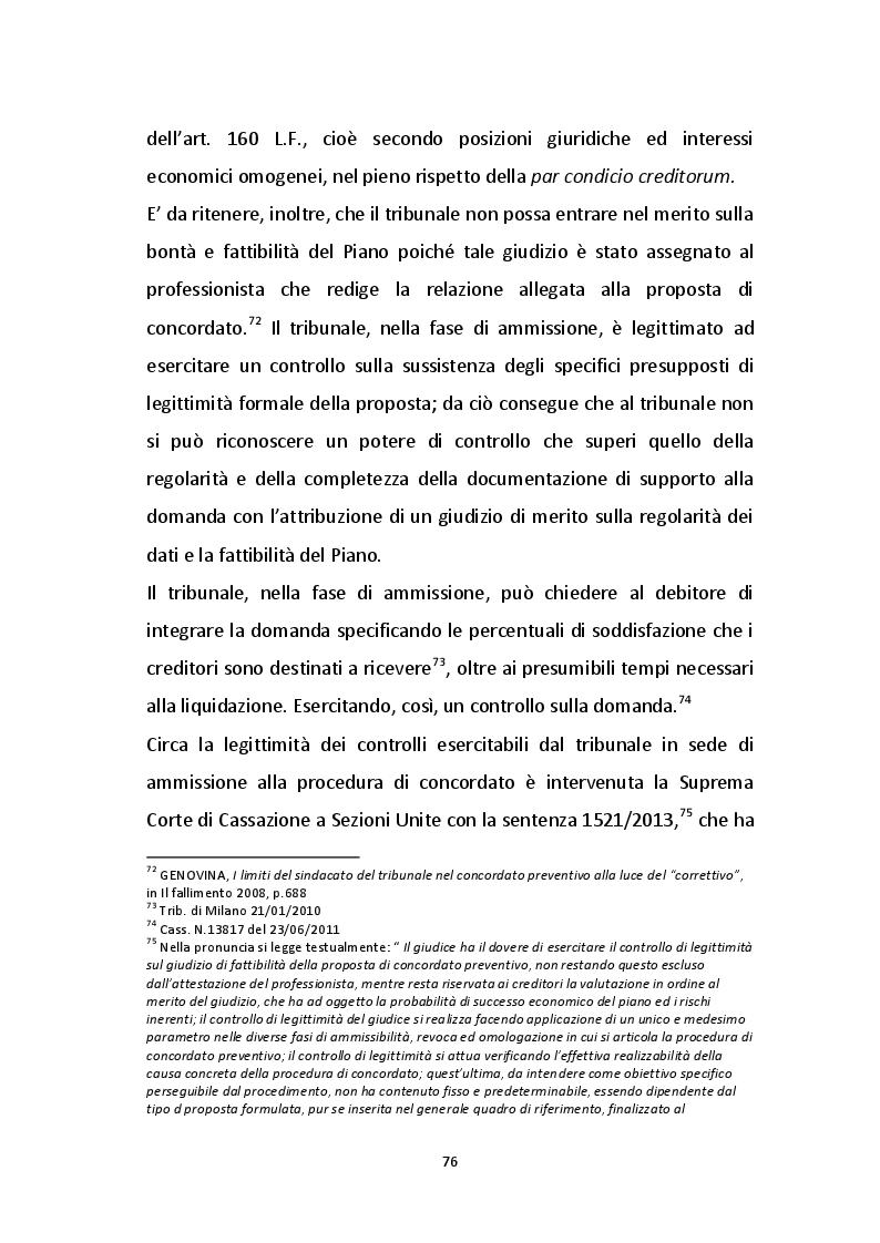 Estratto dalla tesi: Profili critici del concordato preventivo proposto da un'impresa operante nel settore edilizio