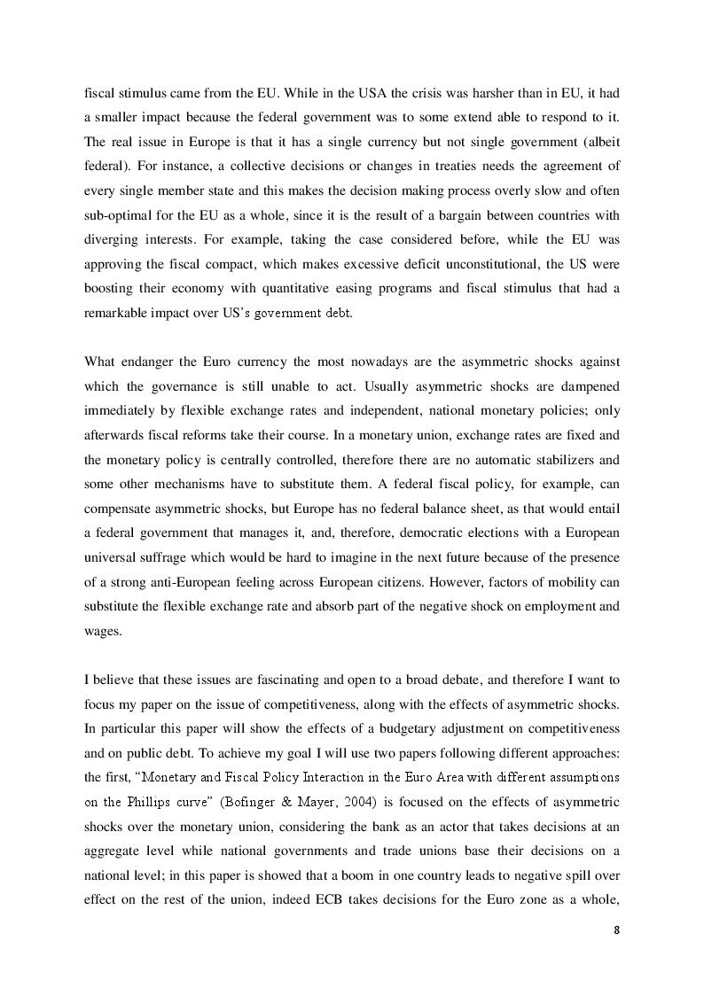 Estratto dalla tesi: Eurocrisis