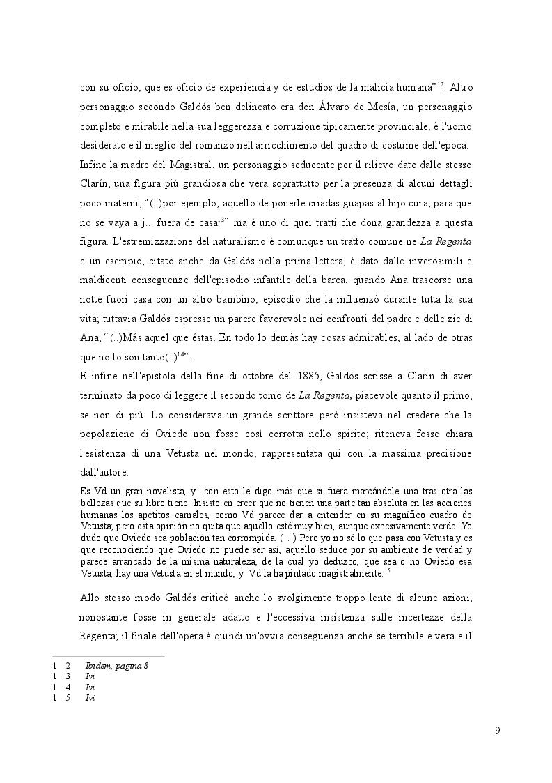 Estratto dalla tesi: La Regenta nello specchio della critica: due generazioni di lettori (XIX-XX sec.)