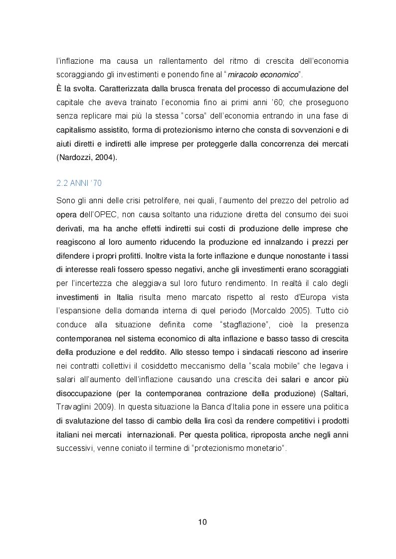Estratto dalla tesi: Il declino economico dell'Italia: tesi a confronto