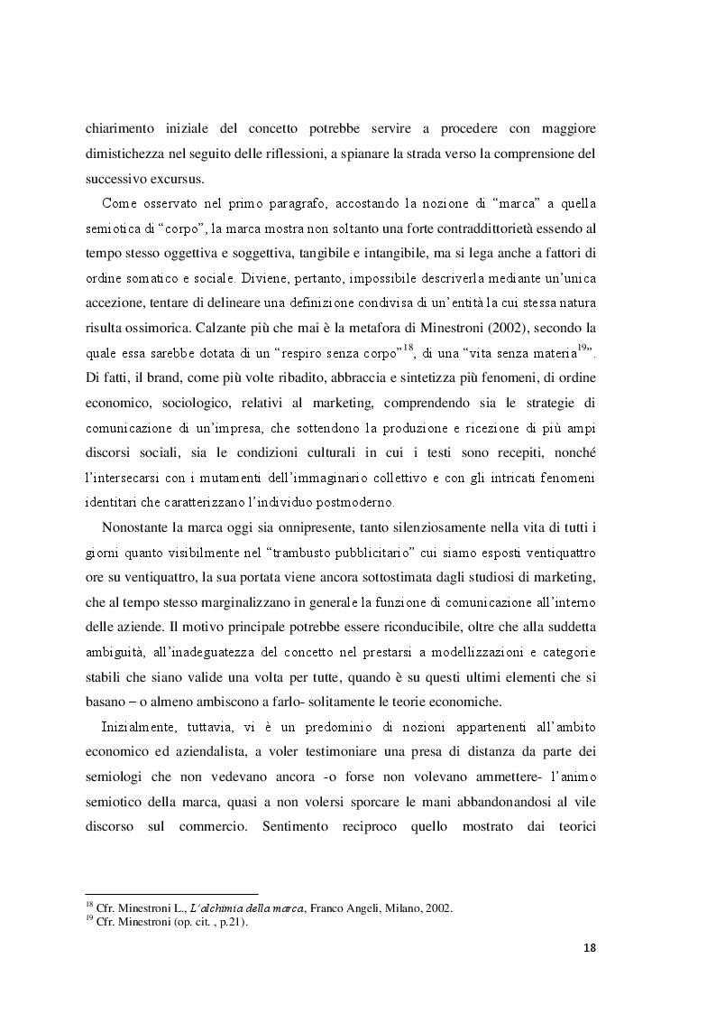 Estratto dalla tesi: La marca ''sempreverde'' tra identità e immagine: un approccio sociosemiotico alla corporate social responsibility