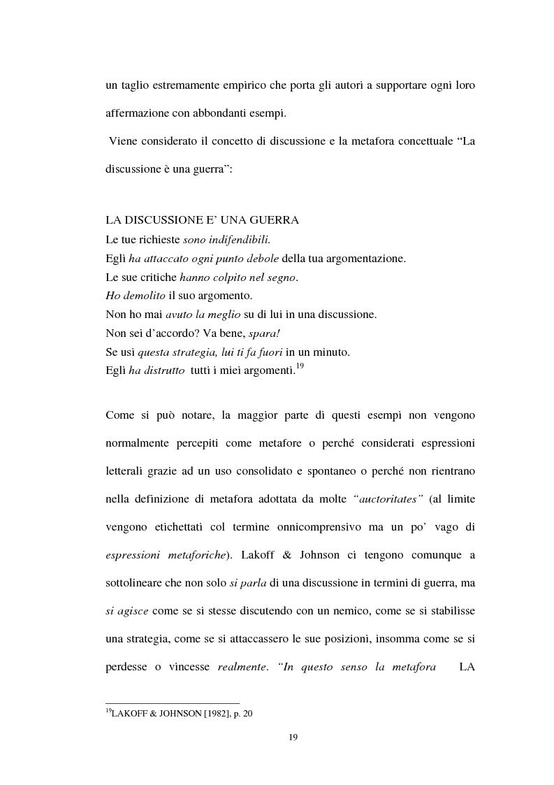 Anteprima della tesi: I sistemi metaforici concettuali nella politica contemporanea, Pagina 14