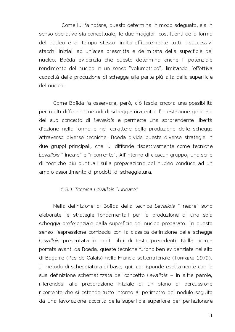 Estratto dalla tesi: L'industria di superficie del Paleolitico medio di Moroni Vigna Giulia (Colline delle Cerbaie, PISA)