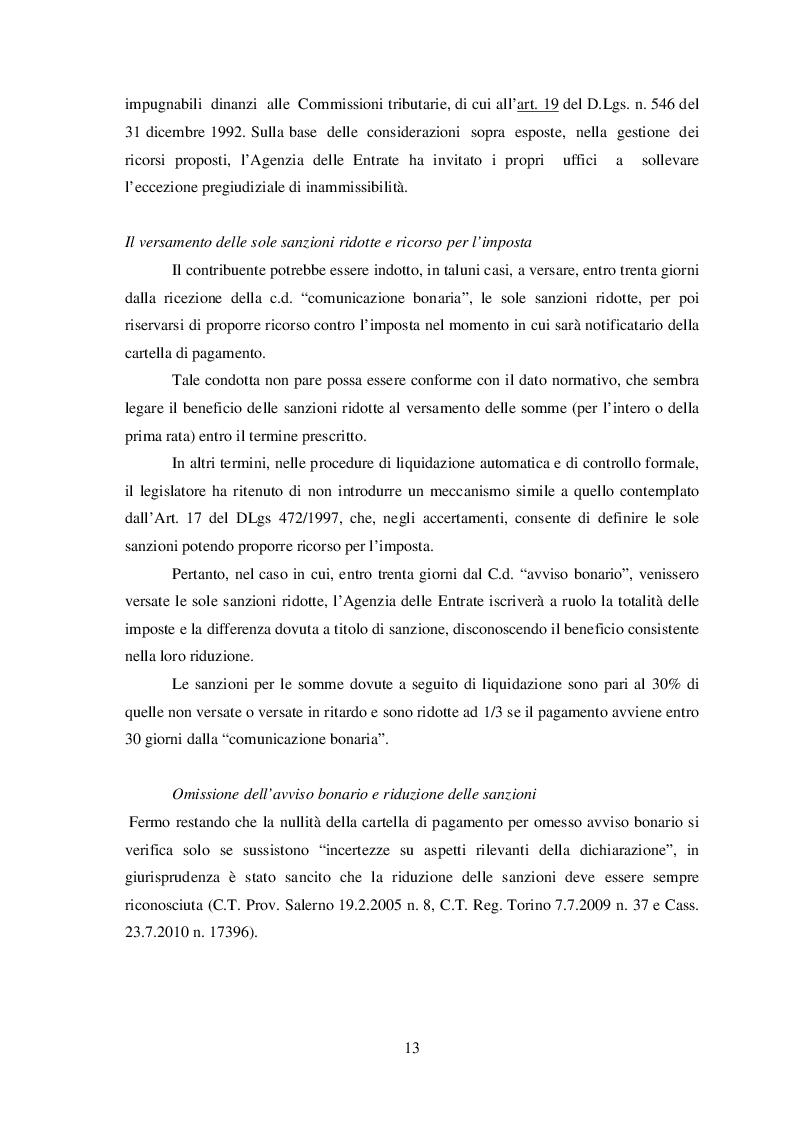 Estratto dalla tesi: Il controllo automatizzato della dichiarazione