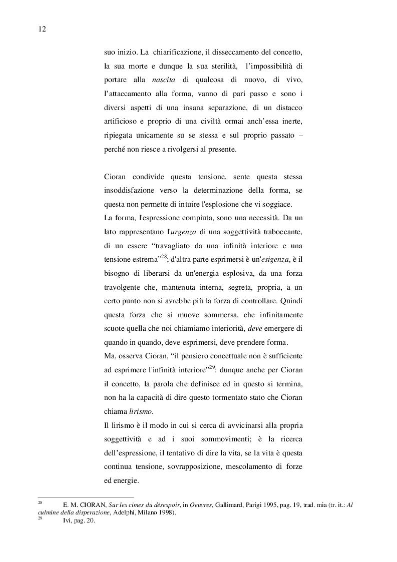 Estratto dalla tesi: Artaud e Cioran: i filosofi dell'avvenire