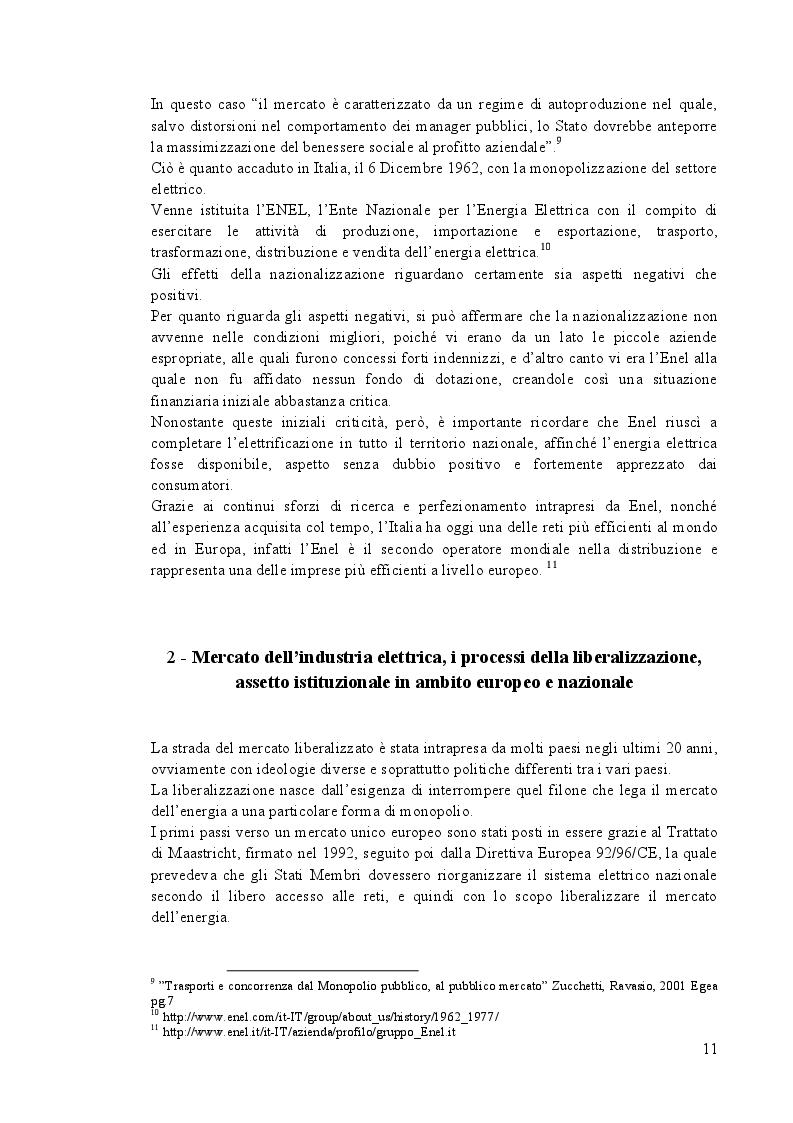 Estratto dalla tesi: Strategie d'impresa: ''Dal monopolio al libero mercato: il caso Enel''